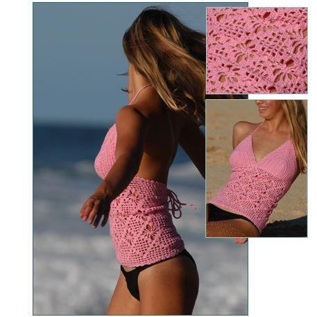Crochet Bathing Suit Patterns Free Free Crochet Tank Tops Pattern