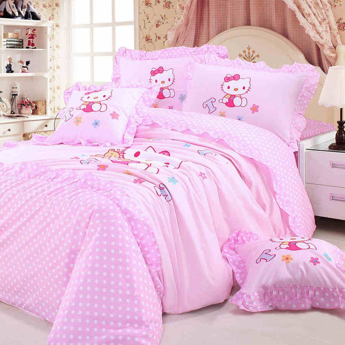 Twin Princess Bedding Set Hello Kitty Bed Hello Kitty Bedroom Princess Bedding Set