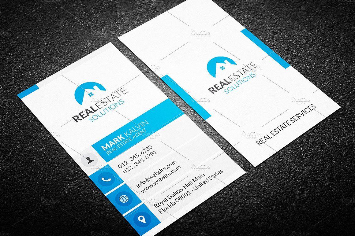Billig Real Estate Agent Geschäfts Karten Vorlagen Mit