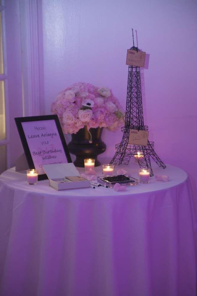 Parisian French Paris Pink Pink And Black Birthday