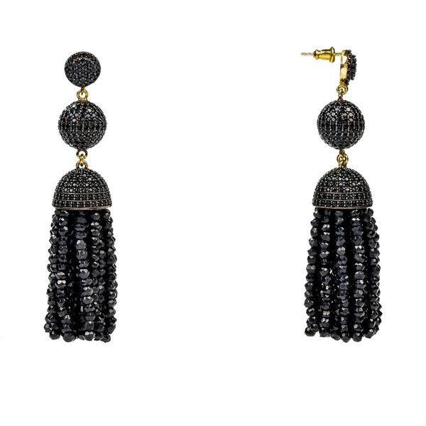 Latelita London Tassel Ball Necklace Black Spinel rfkqeMr