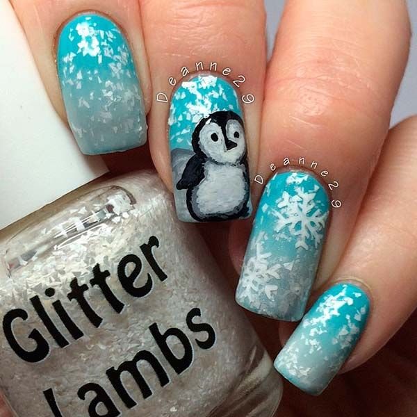 White Nail Polish In Winter: Cute Winter Nail Art Ideas From Instagram