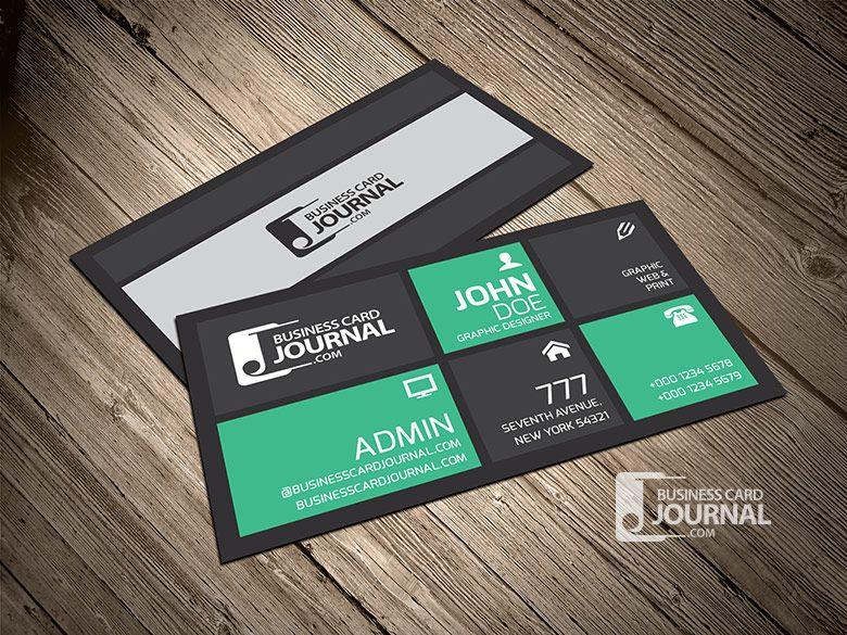 CreativeStylishMetroBusinessCardTemplate Graphic - Awesome business cards templates