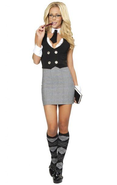 sexy naughty school girl aid halloween costume - Naughty Girl Halloween Costumes