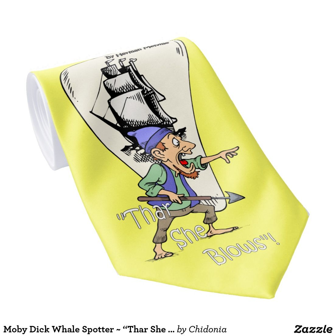 """Moby Dick Whale Spotter ~ """"Thar She Blows!"""" ~ Tie"""