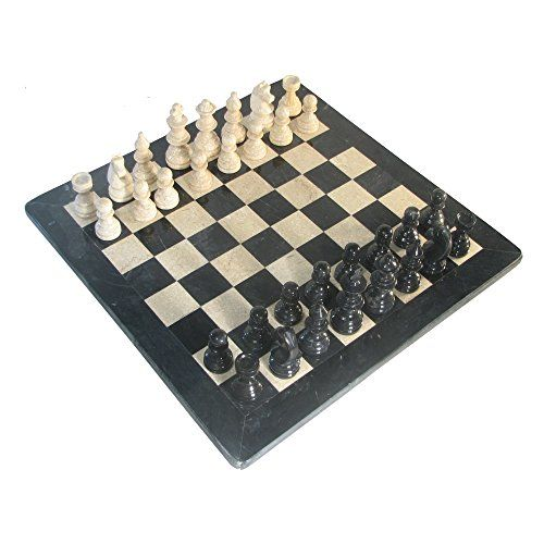 16 Deluxe American Style Boticino  Black Marble Chess Set w Black Border * Read more reviews of the product by visiting the link on the image.