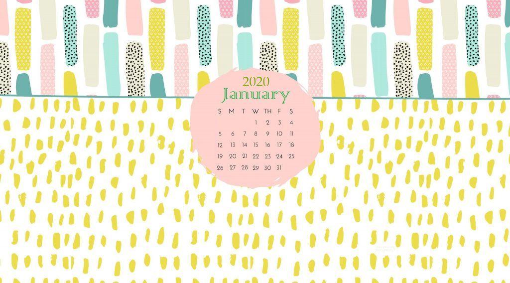 January 2020 Wallpaper With Calendar Calendar Wallpaper January Calendar January Wallpaper
