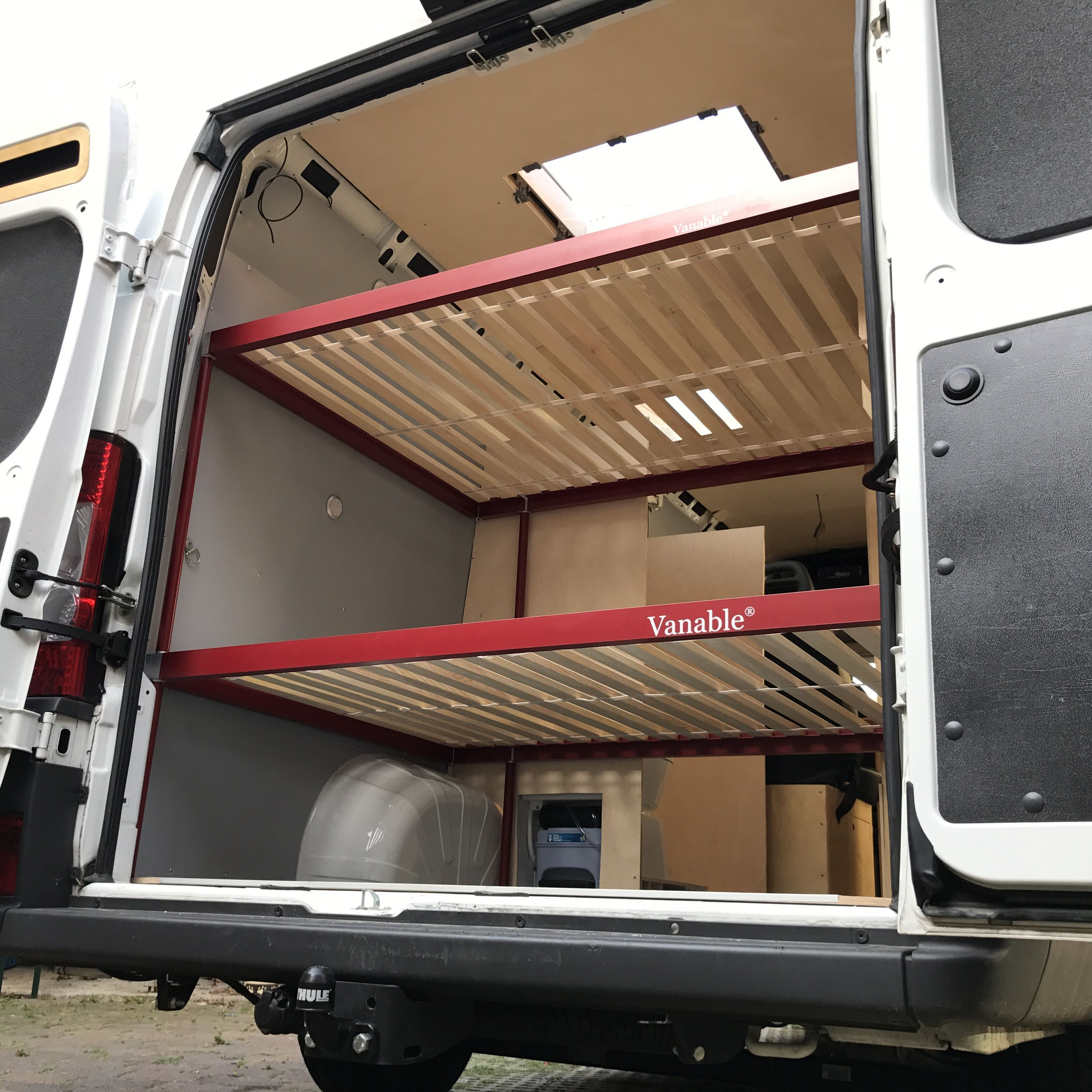 The Vanable Bunk Bed In The Fiat Ducato In 2020 Met Afbeeldingen