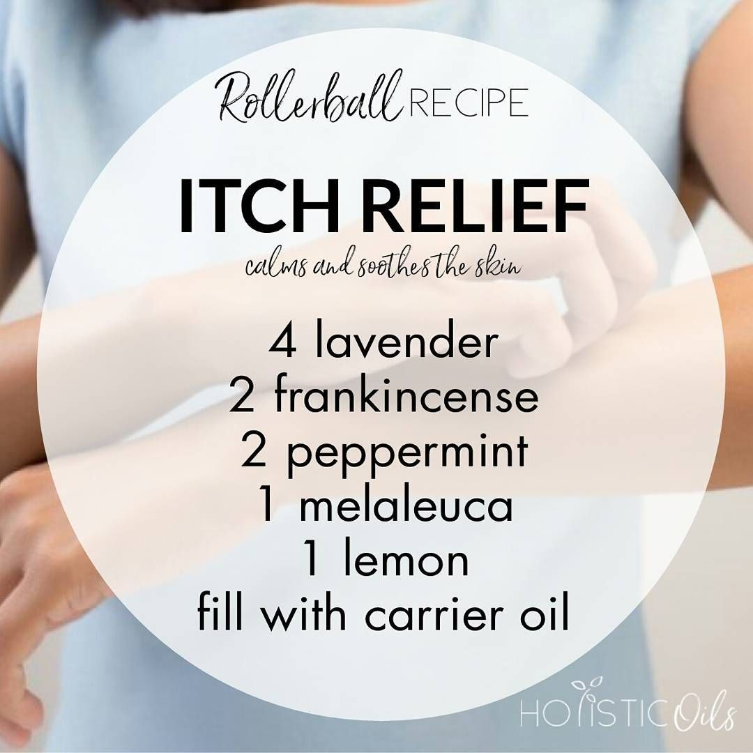 Itchy Skin Make Up This Roller Bottle Blend And Use Often