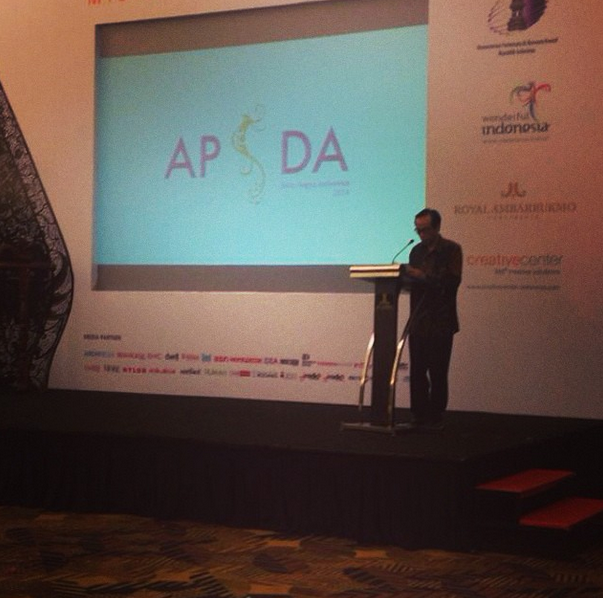 Speech by Yogyakarta Regional Secretary as a representative of Yogyakarta Vice Governor on #APSDA2014 Mystical Design Congress. #apsdaday4 #livefromapsda2014