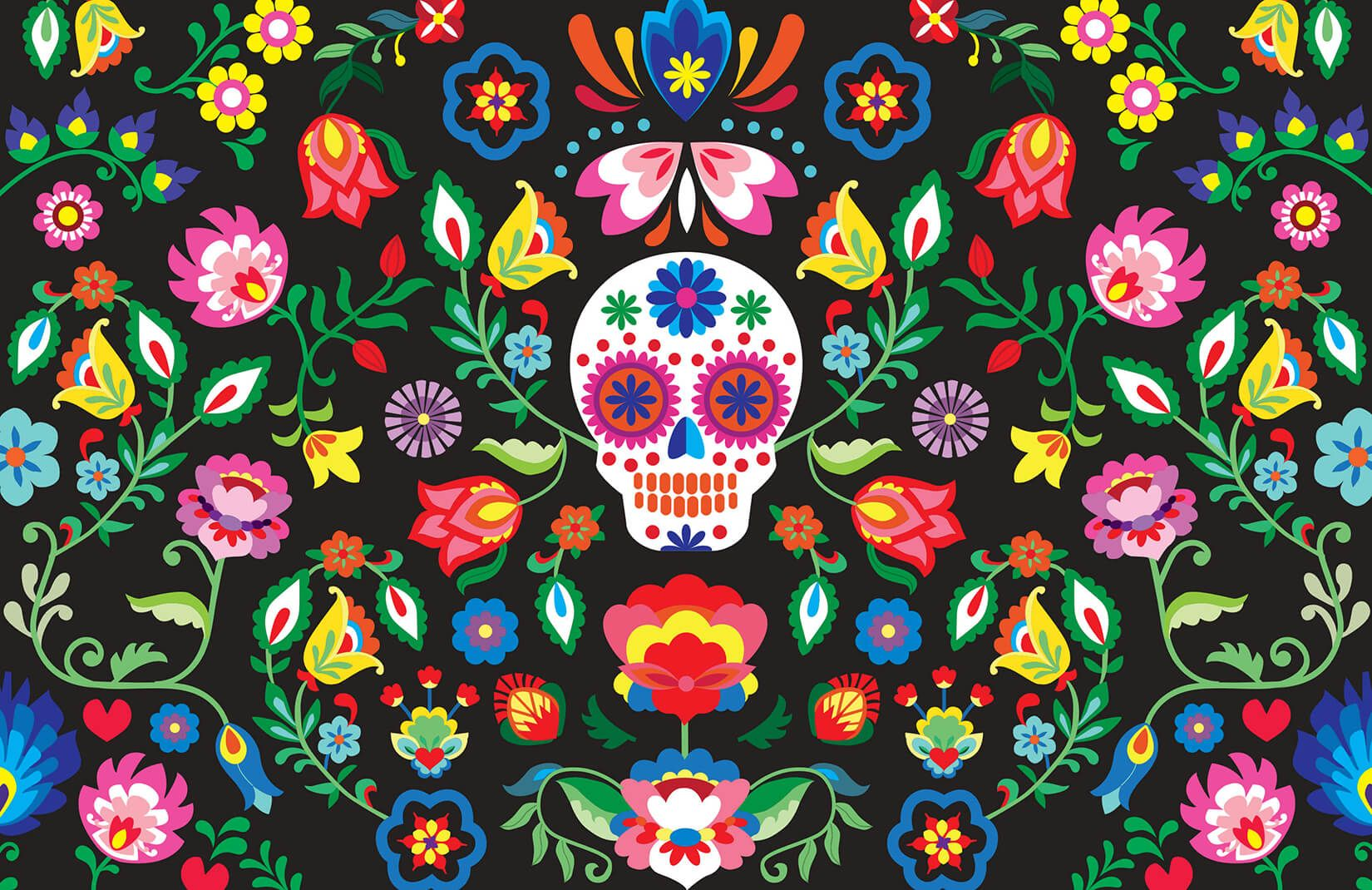 Best Mexican Sugar Skull Wallpaper Muralswallpaper In 2020 400 x 300