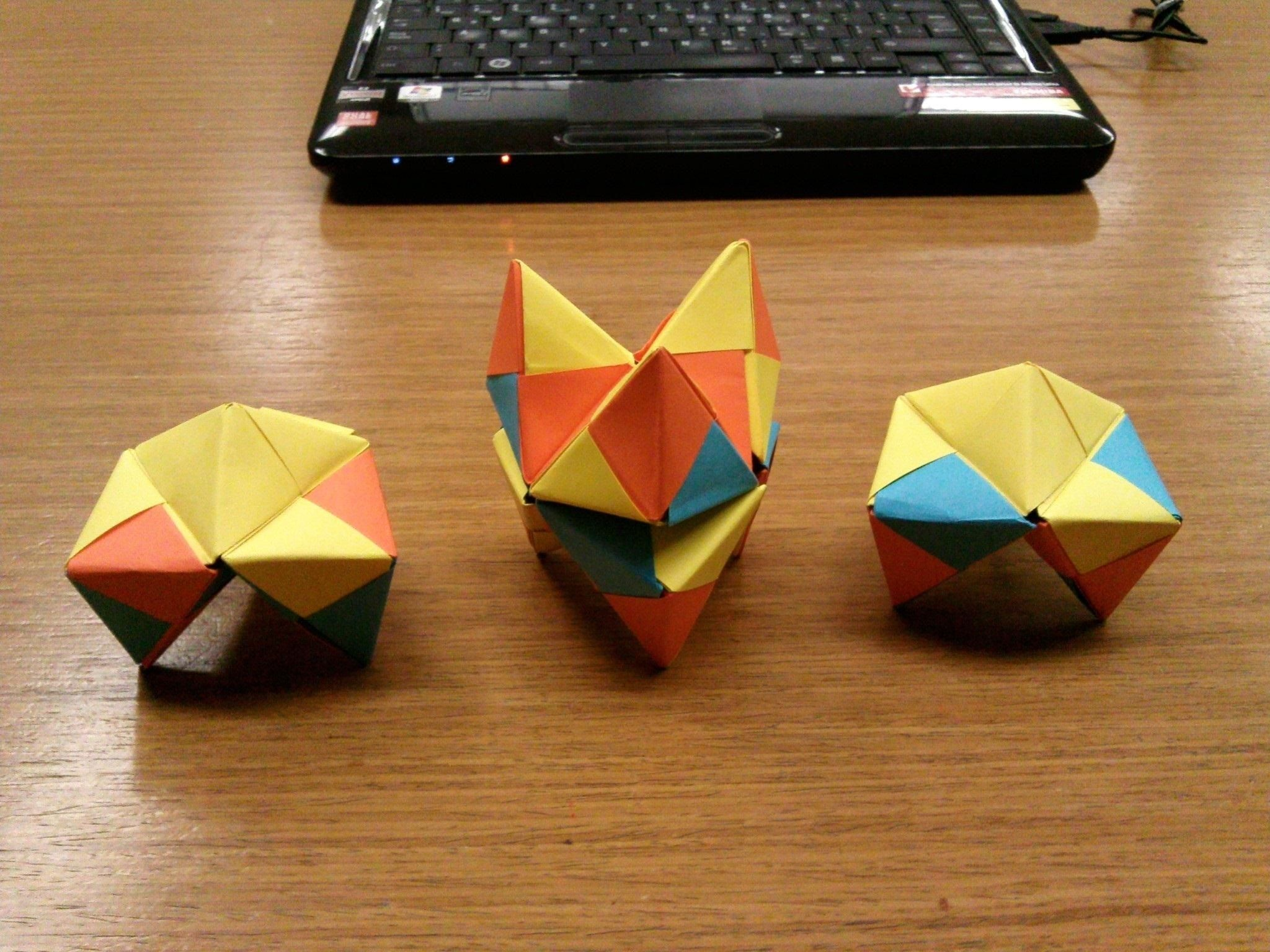 Modular origami how to make a cube octahedron icosahedron from modular origami how to make a cube octahedron icosahedron from sonobe units jeuxipadfo Choice Image
