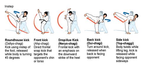 Taekwondo Kick Names   Martial arts   Taekwondo training