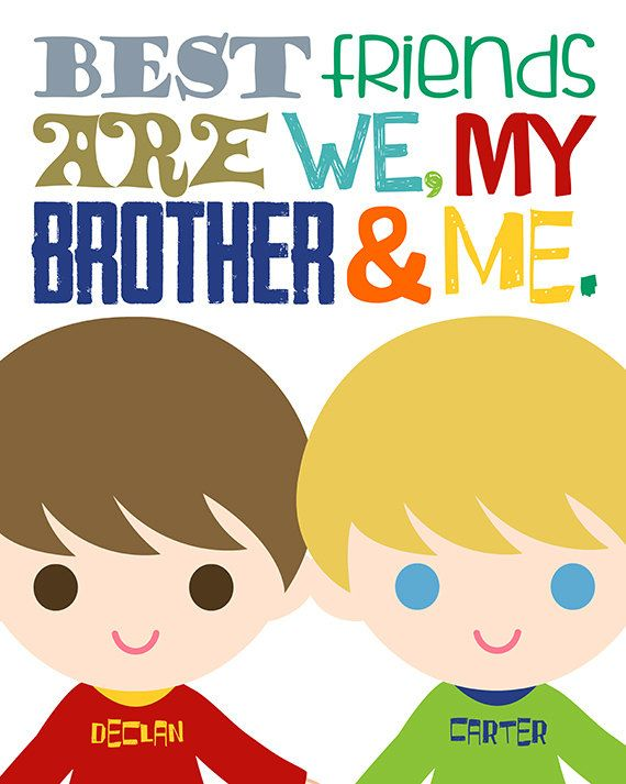 Brothers Wall Art. Best Friend Brother Sign. Brothers Decor. | Misc ...