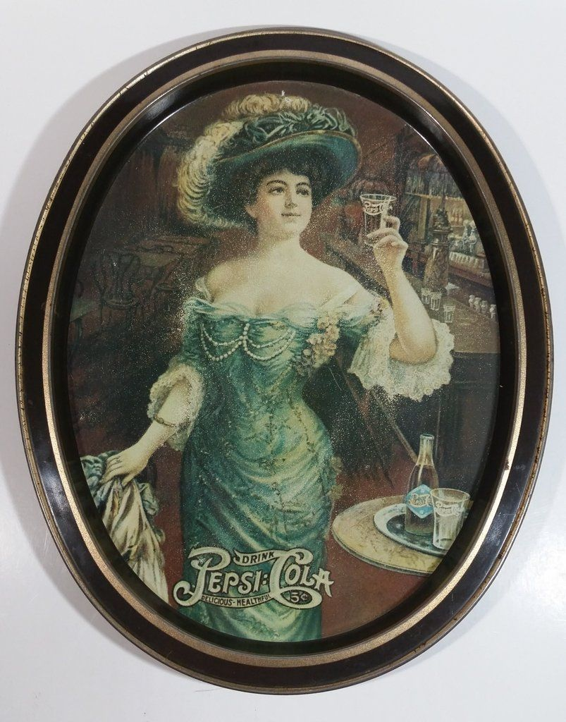 Pepsi Cola Oval Serving Tray Early /'70/'s