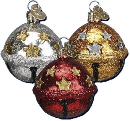 - Old World Christmas Jingle Bell Ornaments Set of 3