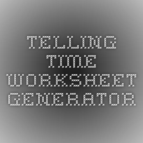 Telling Time Worksheet Generator can create your own worksheets – Time Worksheet Generator