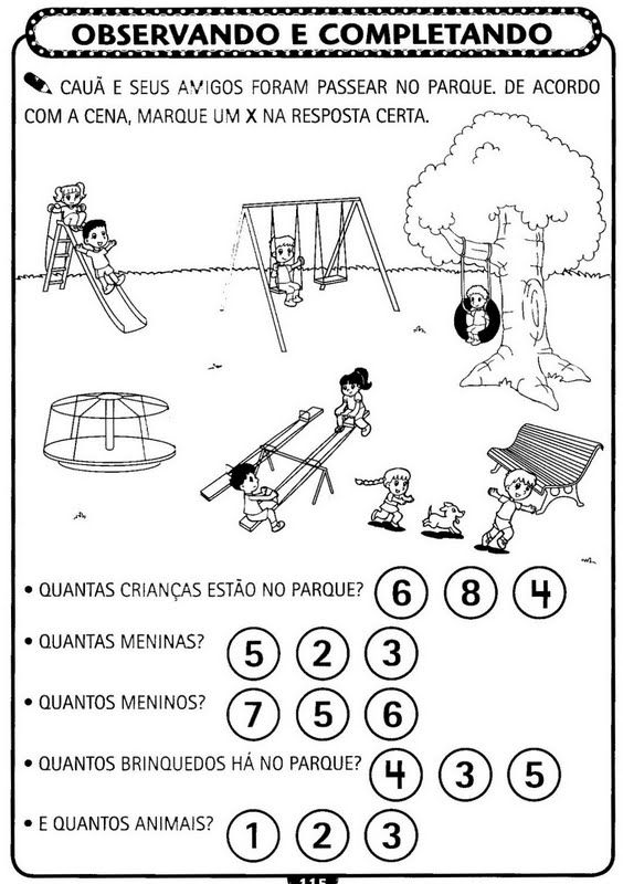 Atividades De Matematica Para Educacao Infantil A Arte De Educar