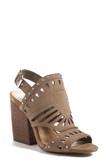 1617a8e39a1 Free shipping and returns on Vince Camuto Reston Sandal (Women) at  Nordstrom.com. Polished studs highlight the geometric cutouts of a go-to shield  sandal ...