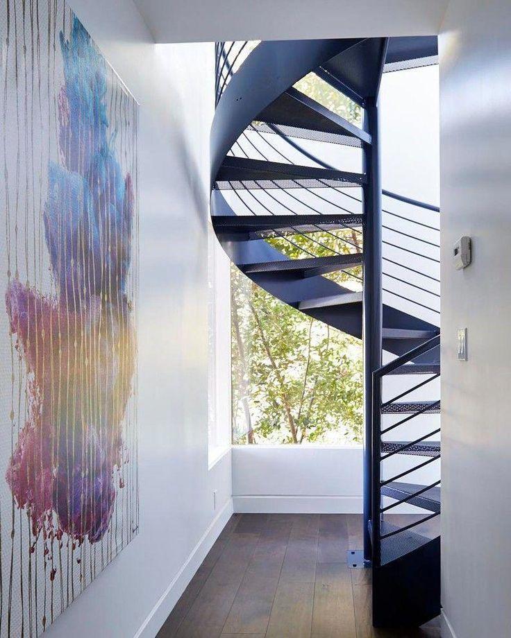 15 Outstanding Mid Century Modern Staircase Designs #ChicModernHomeDecor Spiral … – beatrice