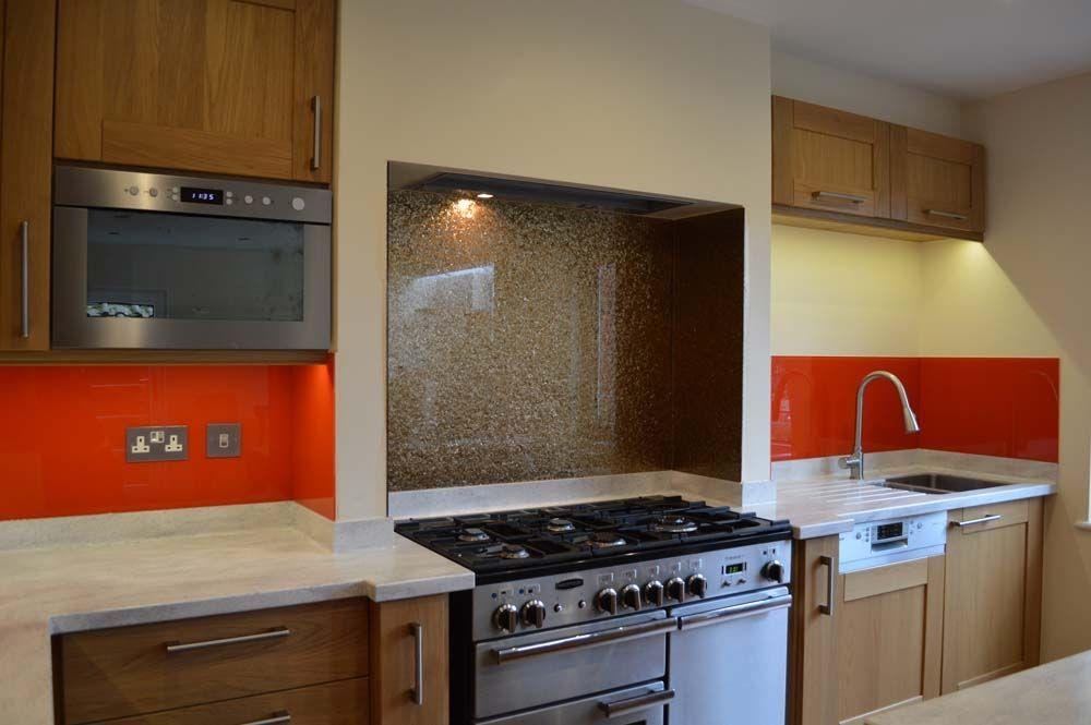 Kitchen Backsplash Uk poppy red gold glass splashbacks and matching colour sockets