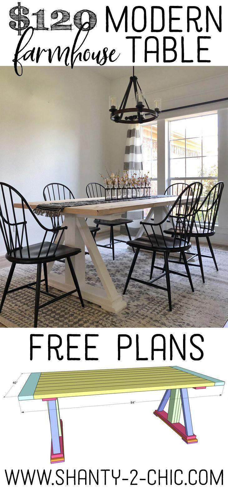 Diy modern farmhouse dining table the leasha table