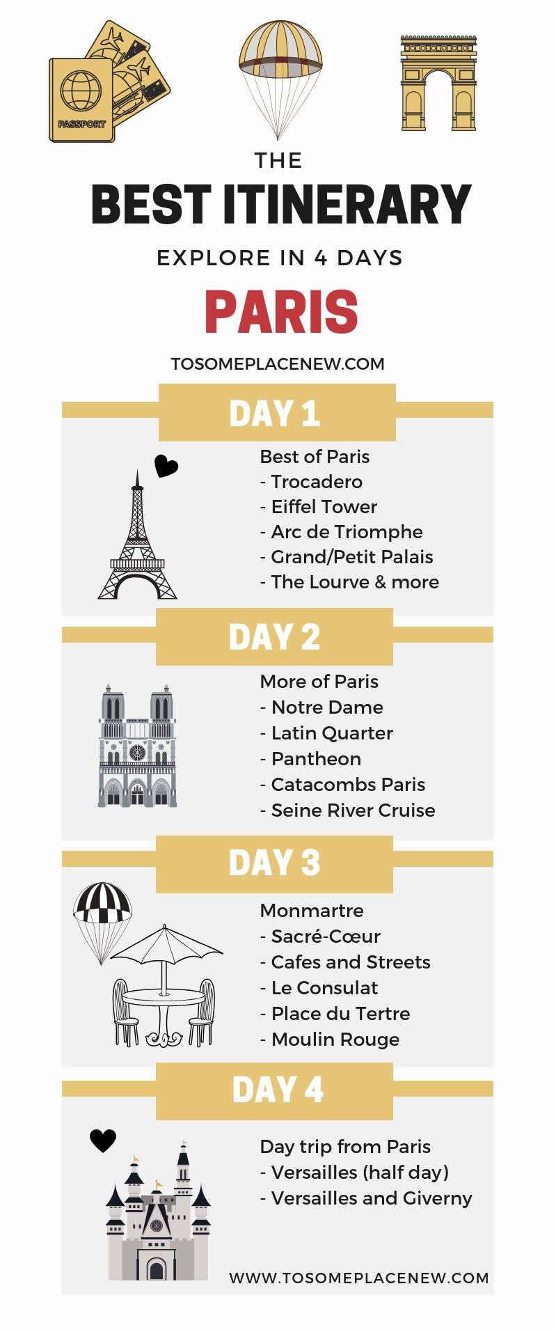 Perfect 4 Day Paris Itinerary for all seasons