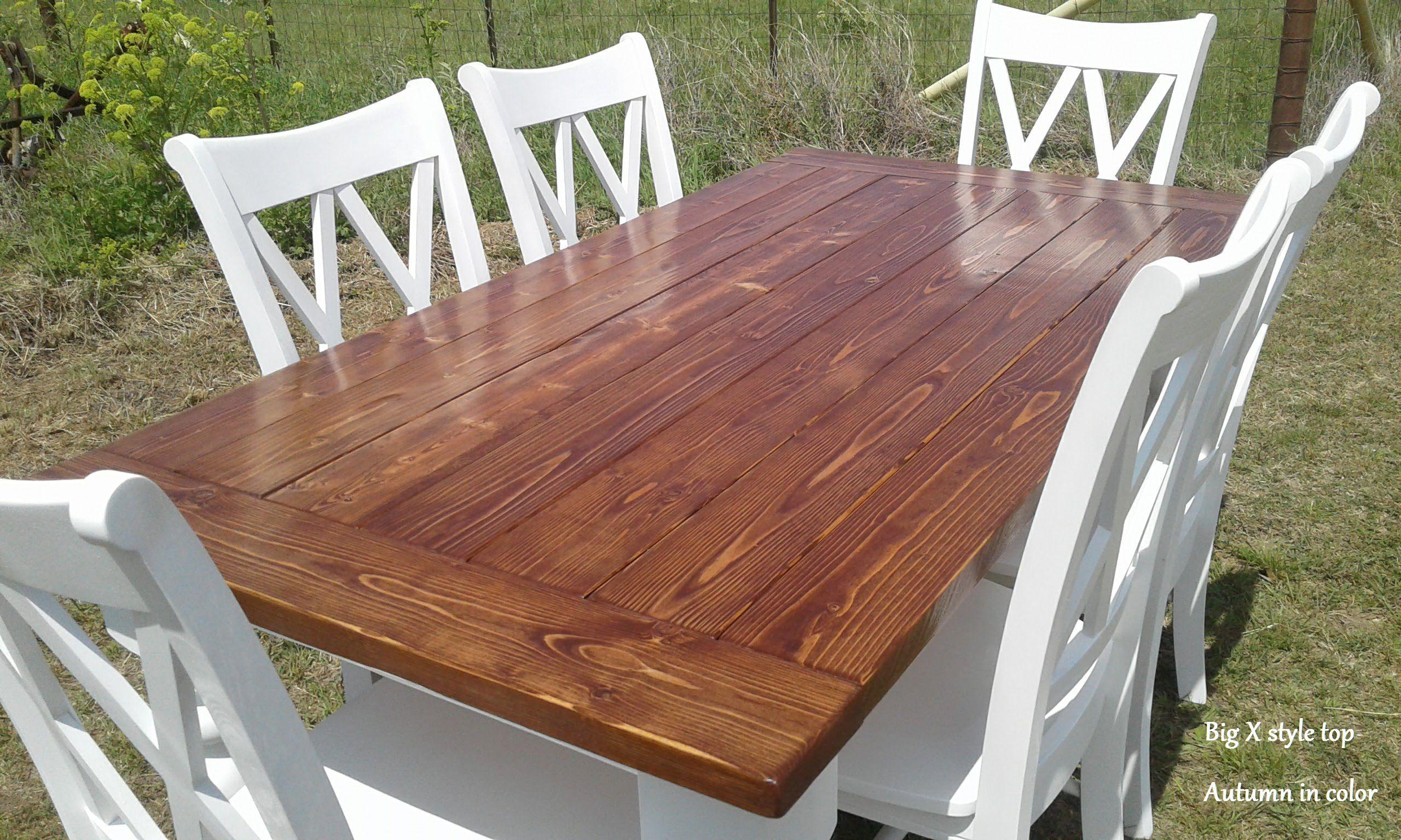 Turned Leg Farm Table Set