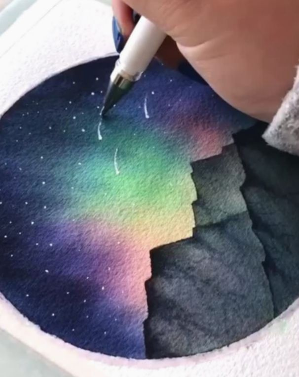 Pin By Briana Gainey On Watercolor In 2020 Watercolor Galaxy