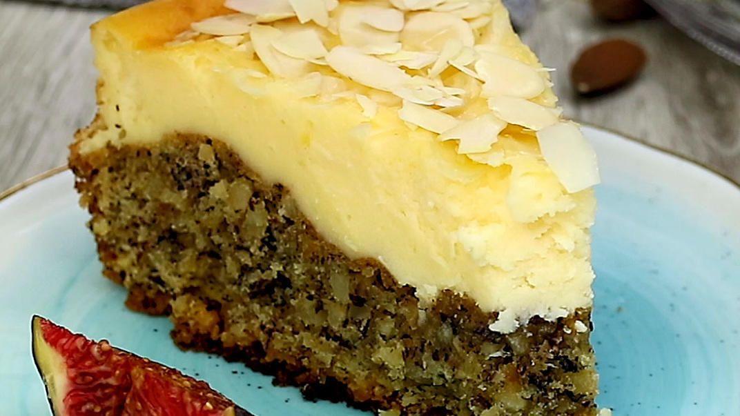 Nuss - Pudding Kuchen - Rezept mit Video