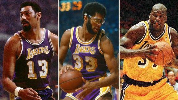 Wilt Chamberlain, Kareem Abdul-Jabbar, Shaquille O'Neal ...