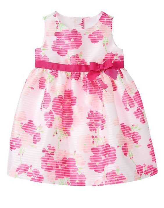 c33937001def NWT Gymboree EGG HUNT White Fuchsia Floral Organza Formal Dress Girls Size  2T 3T