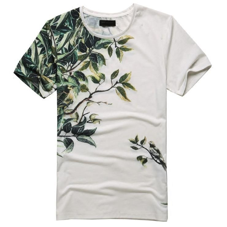 101f7298b ... t-shirts men fashion 2018 tops Men's Clothing. Miami Beach Casual  Flower Printed T Shirt
