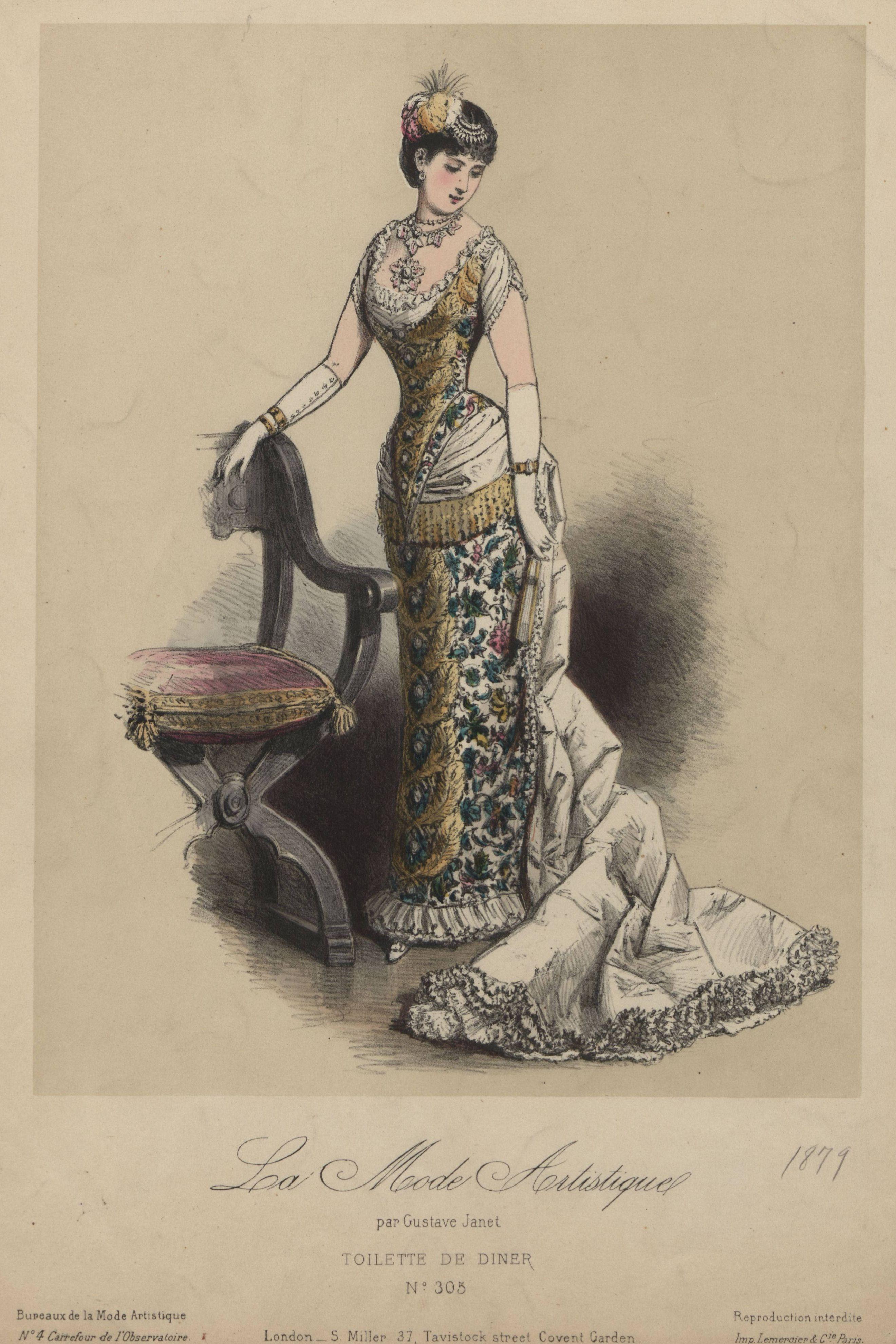 La mode artistique 1879 exquisite history of fashion for Exquisit mode