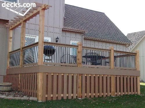 As An Alternative To Lattice Consider Vertical Panels For A Deck Skirt