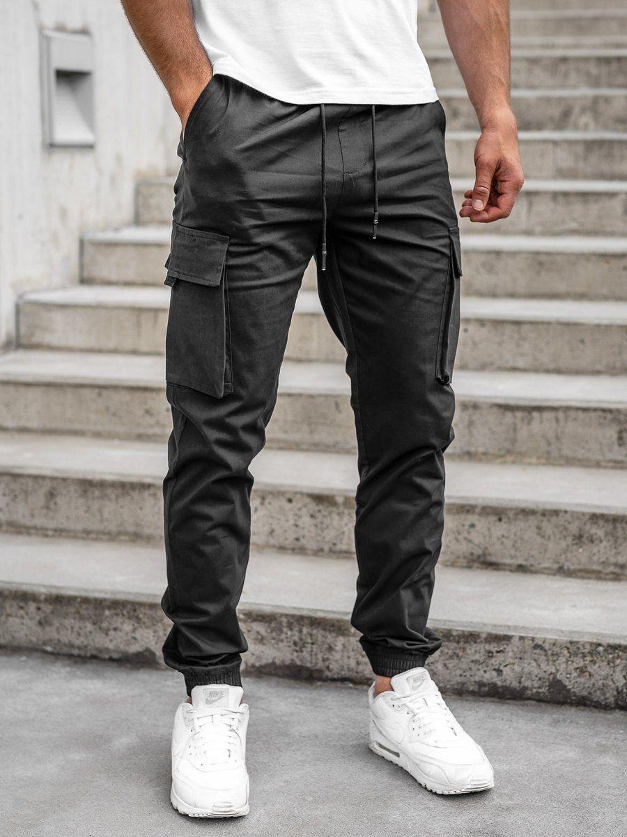 Czarne Spodnie Joggery Bojowki Meskie Denley 701 Mens Joggers Outfit Jogger Outfit Casual Pants Outfit Men
