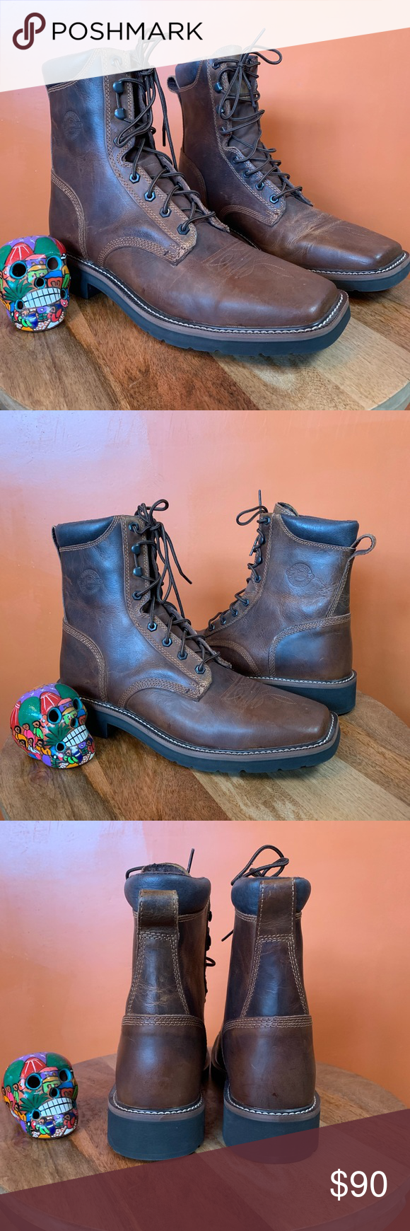 justin stampede lace up cheap online