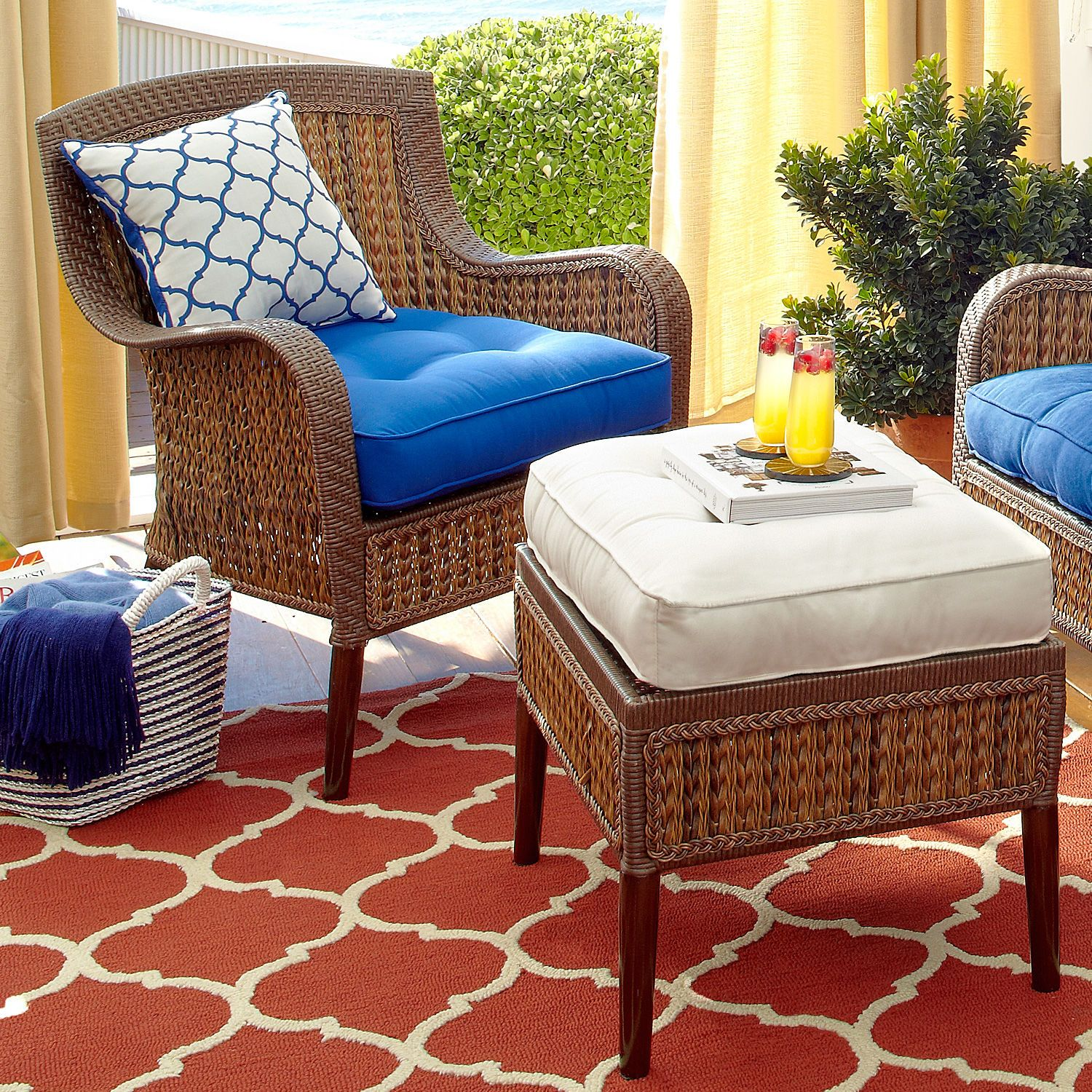 Terrific Cabana Ottoman Cushion Cream Pier 1 Imports Outdoor Ibusinesslaw Wood Chair Design Ideas Ibusinesslaworg