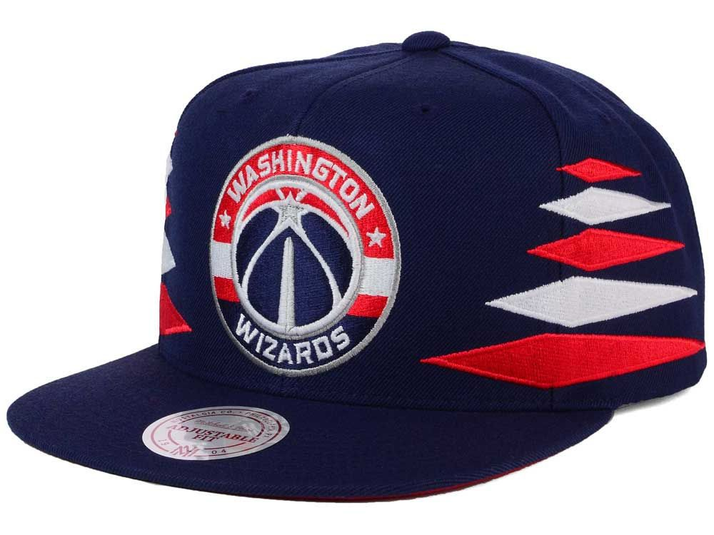official photos 39df3 52959 Washington Wizards Mitchell and Ness NBA Solid Diamond Snapback Cap