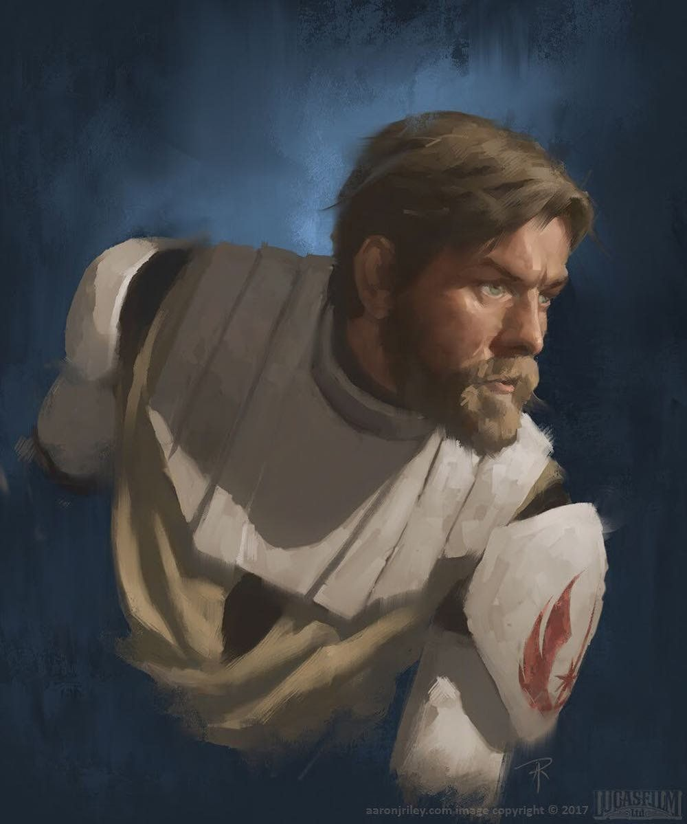 General Obi Wan Kenobi By Aaron Riley Starwars Star Wars Fandom Star Wars Artwork Star Wars Images