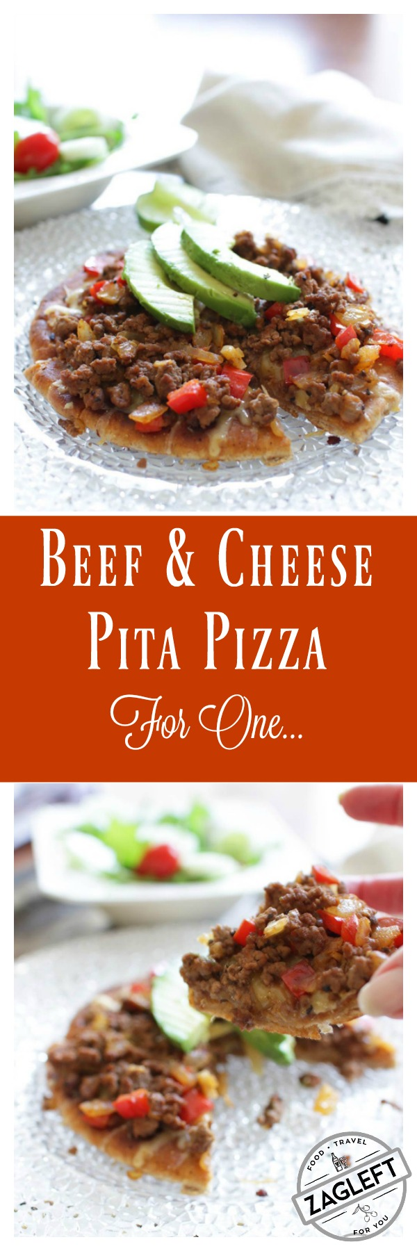 Beef and cheese pita pizza recipe pita pizzas pizzas and cheese beef and cheese pita pizza zagleft forumfinder Images