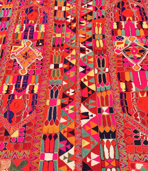 These type of rugs are very special kind embroidered blankets from the Marsh Arabs(Ma dan) of Beni Hasan villages of Southern Iraq.these kind of