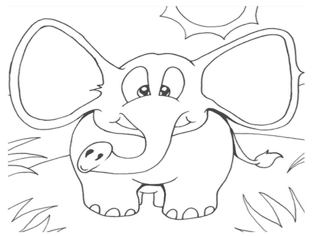 African Elephant Printable Coloring