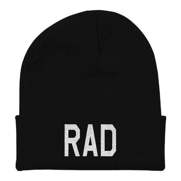 f9cc804b25a68 Rad Beanie Hat Skull Cap - Beanie With Words - 90s 80s Women Mens ...