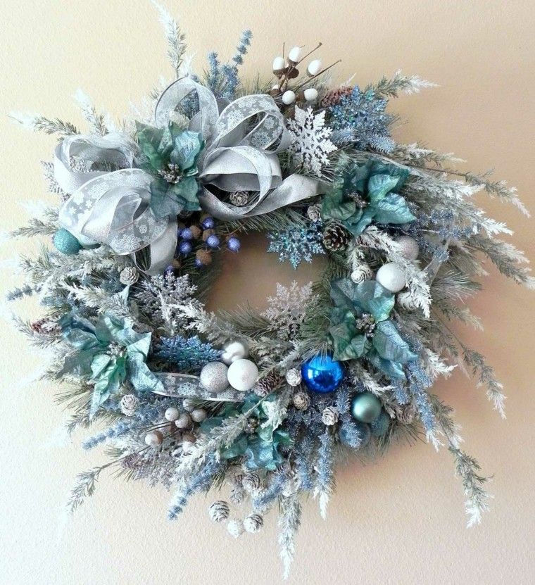 Dise O De Corona De Color Azul Navidad Belenes Y