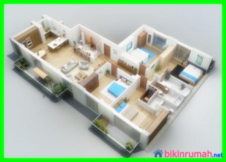 Terobosan Baru, Desain Rumah Minimalis 1 Lantai 4 Kamar Tidur