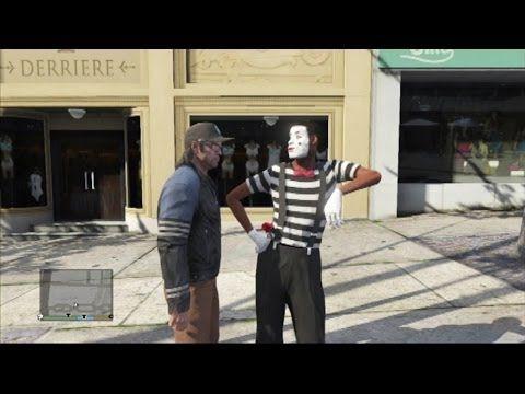 ▶ GTA5 パントマイムを追い払え Drive away street performer. - YouTube