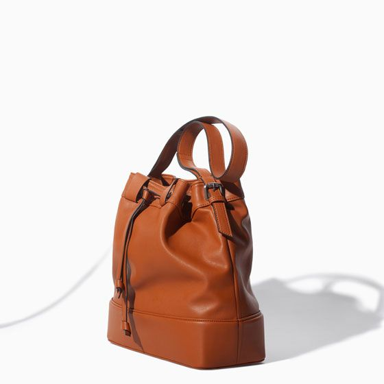 ZARA - WOMAN - DRAWSTRING BUCKET BAG