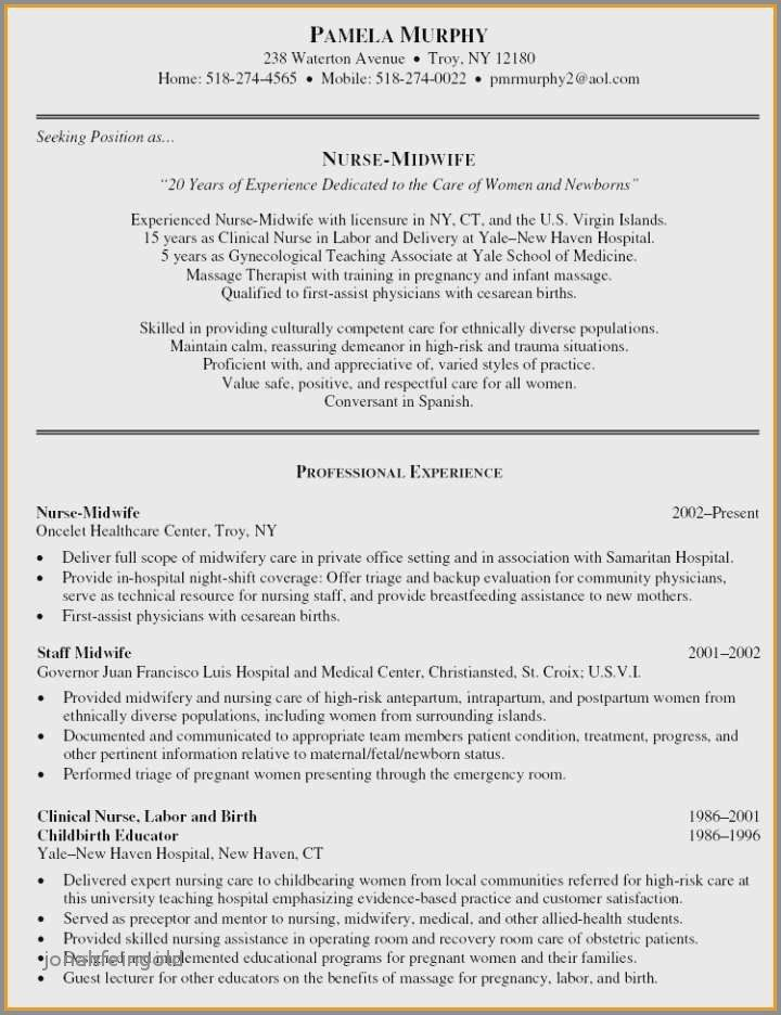 79 Beautiful Collection Of Resume Sample Skilled Nursing Facility