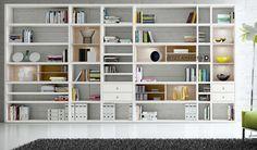 grote witte boekenkast
